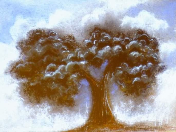 Los árboles siempre fueron vitales para Paco, los representó y defendió en mil maneras. Entre ellos siempre destacó la encina.