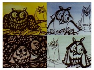 Los pequeños Búhos de Paco, quizás iconos de su persona, siempre presentes en su obra. Paco siempre se sintió fascinado por las rapaces nocturnas e intervino en la recuperación de muchos ejemplares de estas especies.