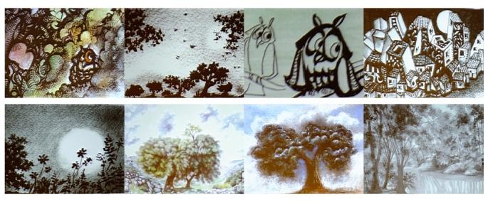 Dibujos de Paco Marín, únicos en su estilo, innovadores en varias técnicas, llenos de pasión...