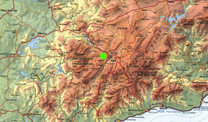 Mapa de ubicación del recorrido