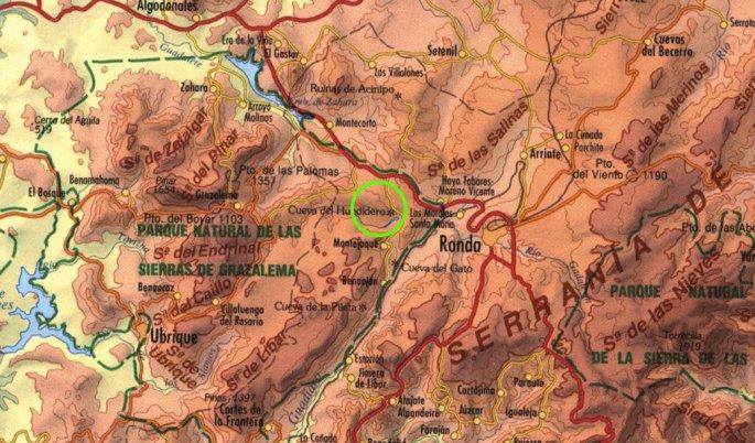 Tramo señalizado en el término municipal de Ronda