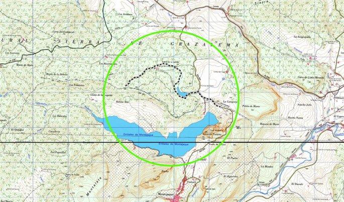 Recorrido sobre mapa de escala 1:25000