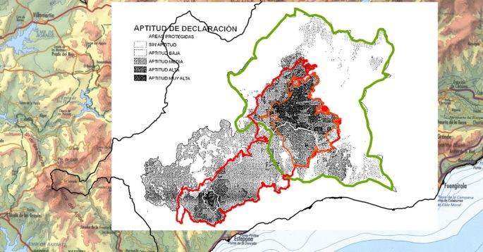 Aptitud de declaración para formar parte del Parque Nacional, según el informe oficial