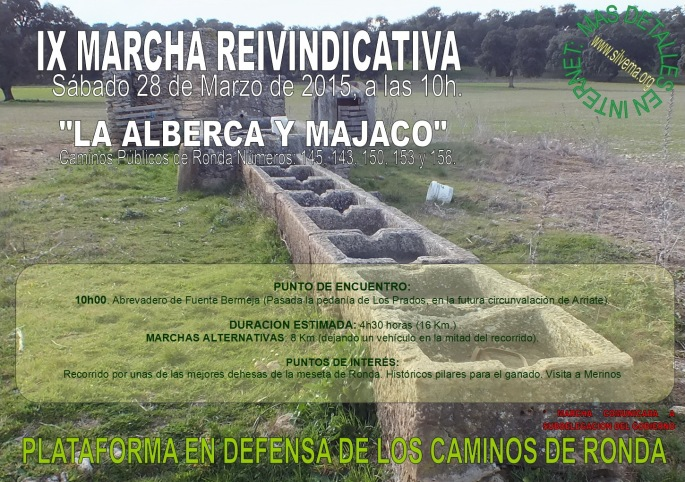 CAMINOS LIBRES Cartel Marcha del 28Marzo2015