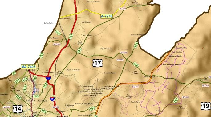 Catalogo de Caminos Rurales de Ronda 2012, fragmento Marcha del 28M