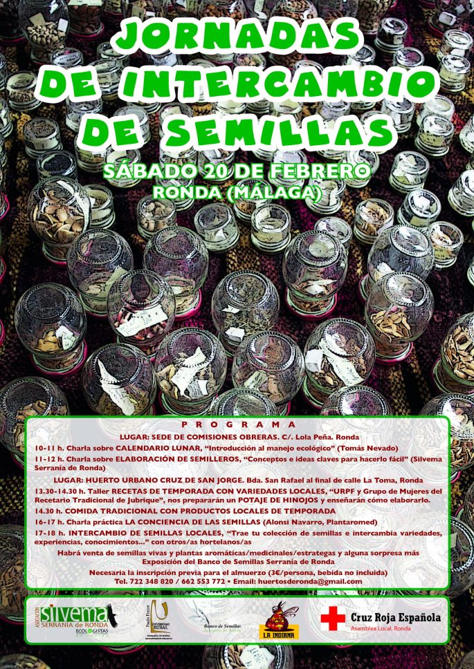 Cartel Jornada Intercambios Semillas 2016