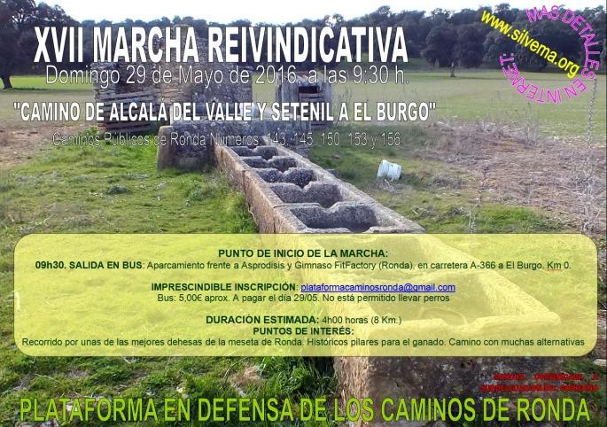20160529 Cartel Marcha camino 150